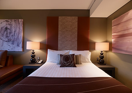 Executive hotel room at North Ryde